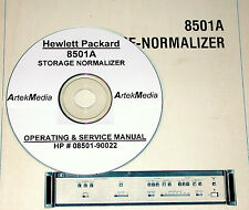 HP Hewlett Packard 8501A STORAGE NORMALIZER OPERATING & SERVICE MANUAL