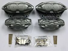 New OEM Infiniti G37 Sport Akebono Front & Rear Caliper Set w/ Hardware