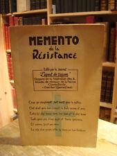 """Memento de la Résistance """"L'Agent de Liaison"""" 1948 H. C."""