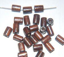50 x Tubo Cuentas de Madera ~ 7x4mm ~ ~ Marrón Oscuro Madera Natural/Tubo/cilindro
