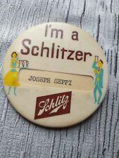 Vintage I'm a Schlitzer Schlitz Brewing Co. Milwaukee Pin