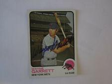 1973 Topps #562 WAYNE GARRETT Autograph / Signed card New York Mets