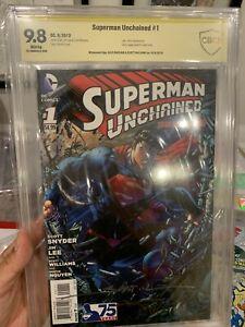 Superman Unchained #1 CBCS 9.8 Signed x2 Alex Sinclair & SCOTT Williams