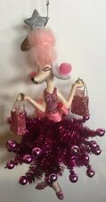 Katherine's Collection Retired Shopping Fifi Poodle Pink Tree Ornament NOS