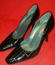 Russell & Bromley Leather Court Slim Heels for Women