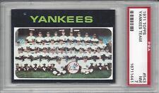 1971 Topps baseball card #543 New York Yankees Team PSA 7 NM