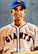 Carl Hubbell New York Giants Sketch Card *Artist Signed* Rare 3/5 Only Five Made