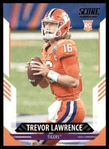 2021 Score Rookie Base #301 Trevor Lawrence - Clemson Tigers RC