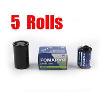 5 Rolls Foma Fomapan 400 Action 400 35mm 135-36  B&W  Film Fresh 2022