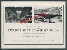 Reklame Dyckerhoff & Widmann Hauptbüro Berlin Vermunt Staudamm Hbf Leipzig 1935