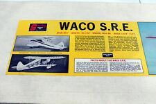 "RC Balsa Kit - Sterling Waco S.R.E.  - Wing 56.5"""