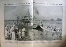 1906 Canoe Racing In Burma Viewed By Prince Of Wales, J Matania Artwork