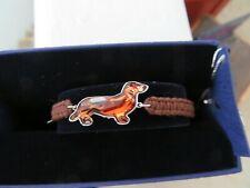 Swarovski Pets Dackel Bracelet *Dachshund* Dog Brown Rodium New in Box