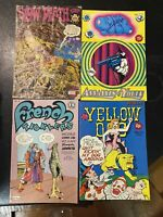 Underground Comix Lot Yellow Dog Slow Death French Ticklers Weird Comics! Crumb