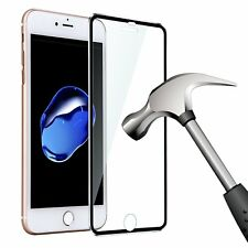 3D Curved Full Cover Metal Tempered Glass Screen Protector For iPhone 6 Black