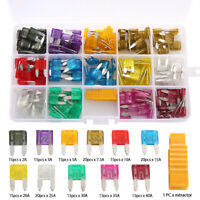 180pcs 2 3 5 10 15 20 40A Mini Auto Blade Fuses Assorted Car Van Replacement Kit