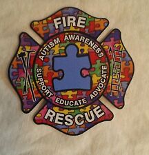 "Fire Rescue Autism Awareness Educate Decal (4"")"