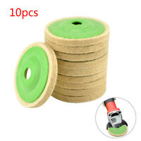 10X 100mm 4 Inch Round Wool Buffing Pad Polishing Wheel Felt Buffer Disc Set