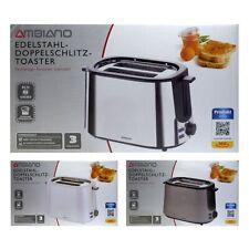 Edelstahl Doppelschlitz Toaster mit integriertem Brötchenaufsatz 1000 Watt