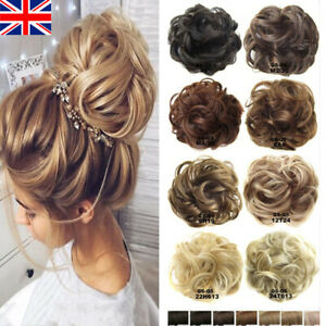 Women Thick Curly Messy Bun Ponytail Scrunchie Updo Cover Hair Piece Extensions