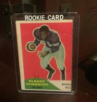 1960 Fleer Football Card #17 Elbert Dubenion-Buffalo Bills