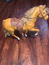1980 Vintage Dallas Barbie Horse Vintage w/ saddle, bridle #3312