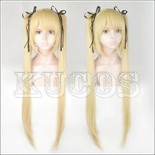 421 Dead Or Alive Marie Rose Blond Styled Cosplay Wig + Free Black Ribbon
