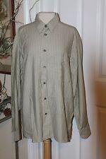 New ERMENEGILDO ZEGNA Multi-Color Striped Cotton Dress Shirt Size Large $275