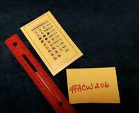 MILLS EXTRAODINAIRE VARIABLE AWARD CARD ANTIQUE SLOT MACHINE #ACW 206