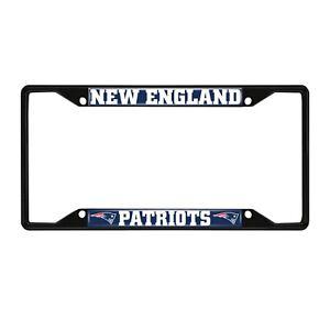 Fanmats NFL New England Patriots Black Metal License Plate Frame Del. 2-4 Days