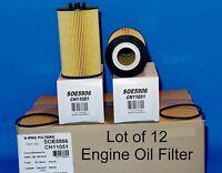 Lot of 12 - SOE5906 Engine Oil Filter with Gasket Fits:Mercedes-Ben