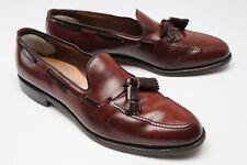 Allen Edmonds Grayson SHELL CORDOVAN Tassel Moc Loafers 10.5 A Burgundy #8 8287