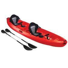 Sit On Top KAYAK DOUBLE 2+1 Family Ocean River Sea Fishing Touring Tandem RED