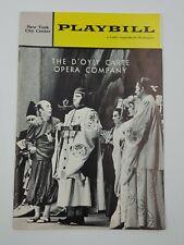 Theatre  Playbill Program New York City Center The D'oylo Carte Opera Co. 1962