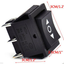 Black On-Off-On Latched Rectangle Rocker Switch DPDT Crane Toy Winch E9C