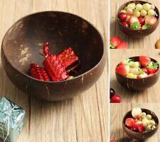 Eco friendly Natural 100% Coconut Shell Bowl Salad Dessert Tableware Handmade