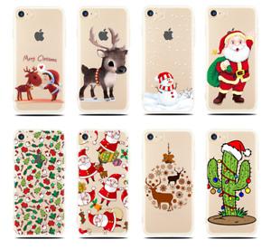 Christmas Festive Santa Reindeer Soft TPU Case for iPhone 5/6/7/8/X Samsung