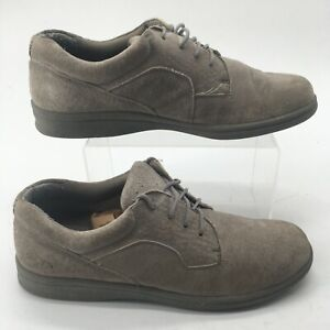 Dr Scholls Womens 10M Lace Up Casual Oxford Comfort Shoes Sneakers Grey Suede