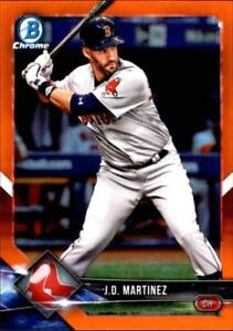 2018 Bowman Chrome Orange Refractor #58 J.D. Martinez 5/25 Red Sox