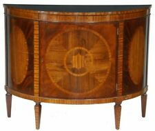 BAKER Historic Charleston Mahogany DemiLune Commode Satinwood Inlays
