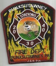 """Punxsutawney  Stations  20 - 30 - 40, PA  (4"""" x 4.5"""" size) fire patch"""