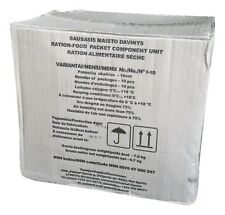 MRE Lithuanian Army military ration pack camping food meal ready to eat BOX