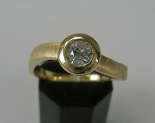Goldring 585 14K. Brillantring Solitär Diamant Diamond 0,40 ct. Gelbgold