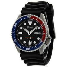 Seiko Divers Automatic Blue Dial Black Rubber Strap Mens Watch SKX009J1