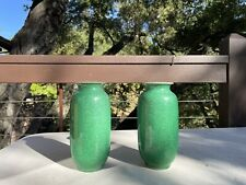 A Pair Chinese Green Glazed Vases