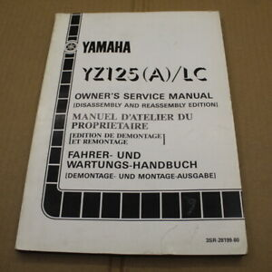 MANUEL REVUE TECHNIQUE D ATELIER YAMAHA YZ 125 A 1990 SERVICE MANUAL YZ125 LC