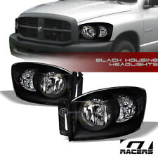 FOR 2006-2008 2009 DODGE RAM 1500 2500 BLACK HOUSING HEADLIGHTS SIGNAL LAMPS NB