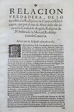 1678 Rare Account Algiers  Redemption European Slave Captives Algeria Pirates
