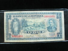 COLOMBIA 1 PESO 1953 BOGOTA COLOMBIAN 40# WORLD CURRENCY BANKNOTE MONEY