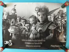 Jak 3 -- VERY RARE Official Game Promo Poster Sony PlayStation 2 PS2 Naughty Dog
